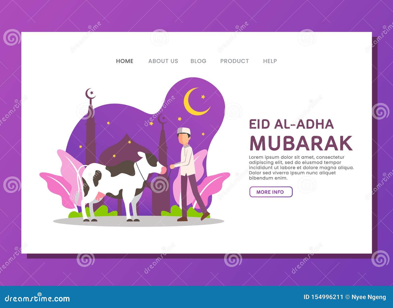 Eid al Adha lądowania strony pojęcie