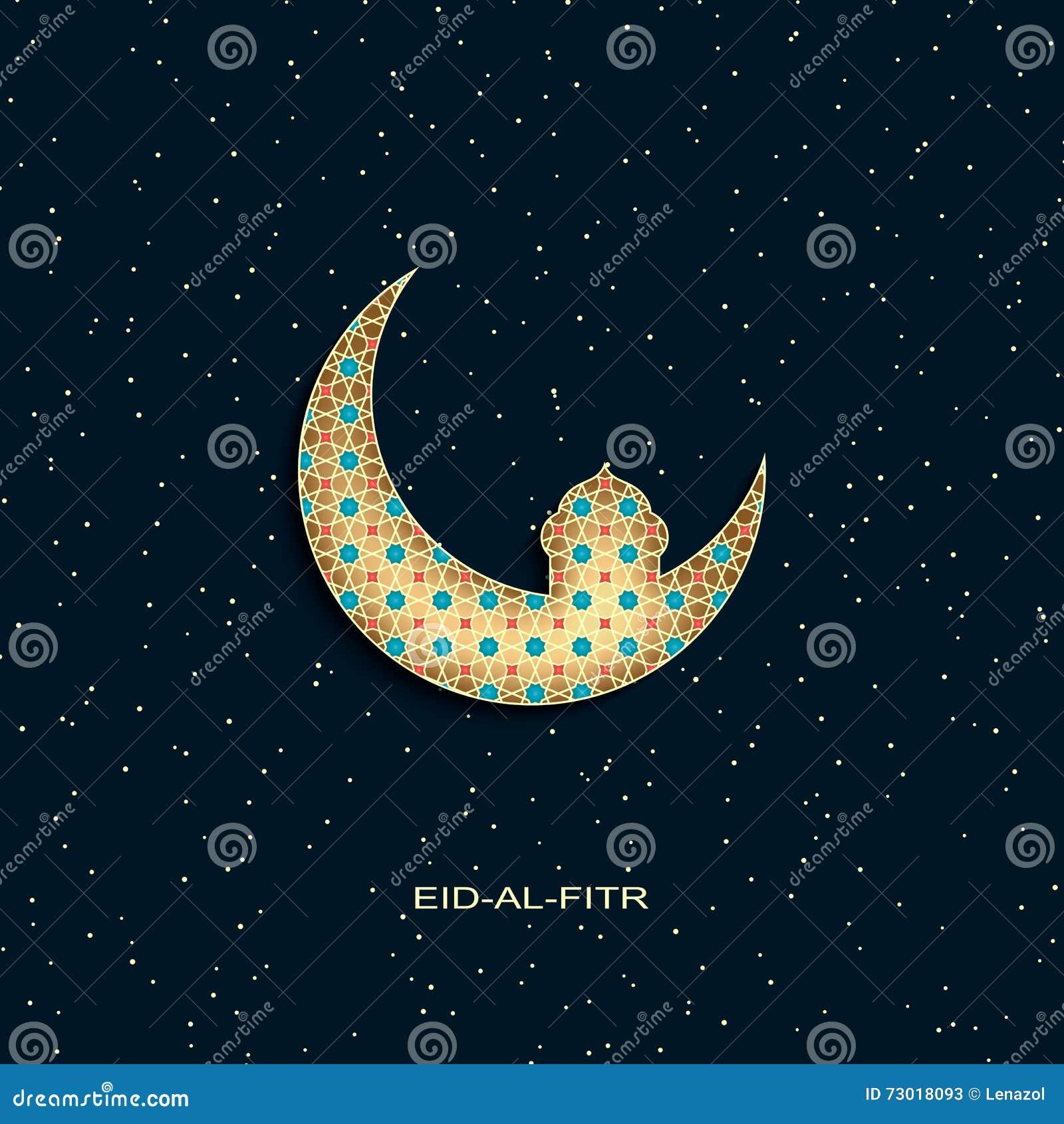 Wonderful Spring Eid Al-Fitr Decorations - eid-al-fitr-background-golden-decorated-moon-star-mosque-vector-73018093  Picture_4303 .jpg
