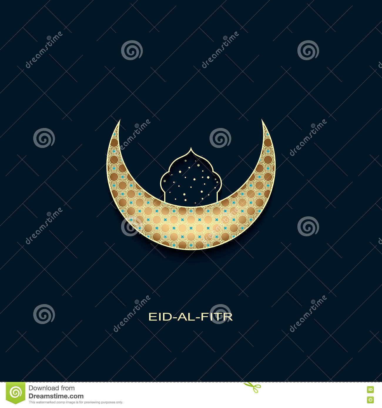 Most Inspiring Moon Star Light Eid Al-Fitr Decorations - eid-al-fitr-background-golden-decorated-moon-star-mosque-vector-73018106  HD_3387 .jpg