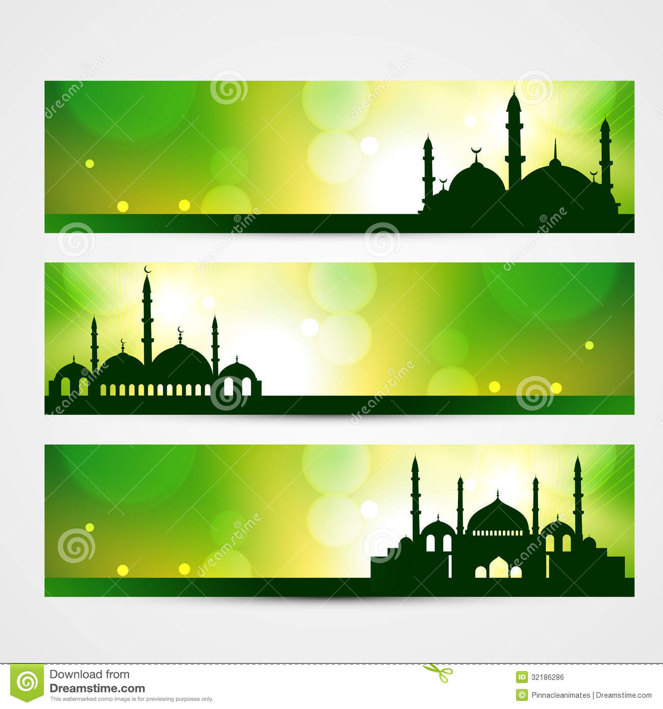 eid banners stock vector image of festival islam allah