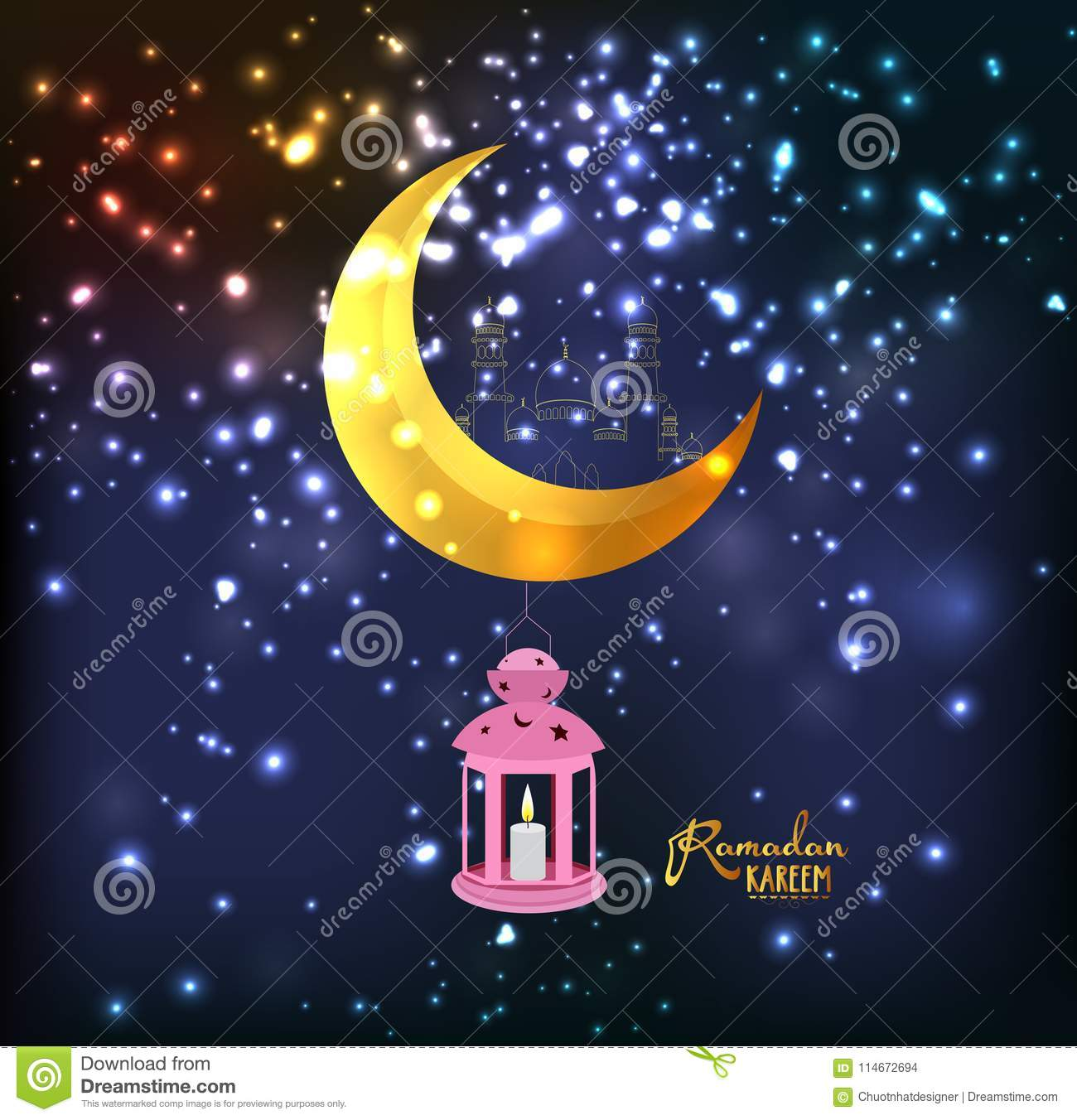eid milad un nabi design mosque silhouette in night sky with crescent fireworks stock illustration illustration of backgrounds mosque 114672694 https www dreamstime com eid milad un nabi design mosque silhouette night sky crescent fireworks ramadan kareem lantern design background image114672694