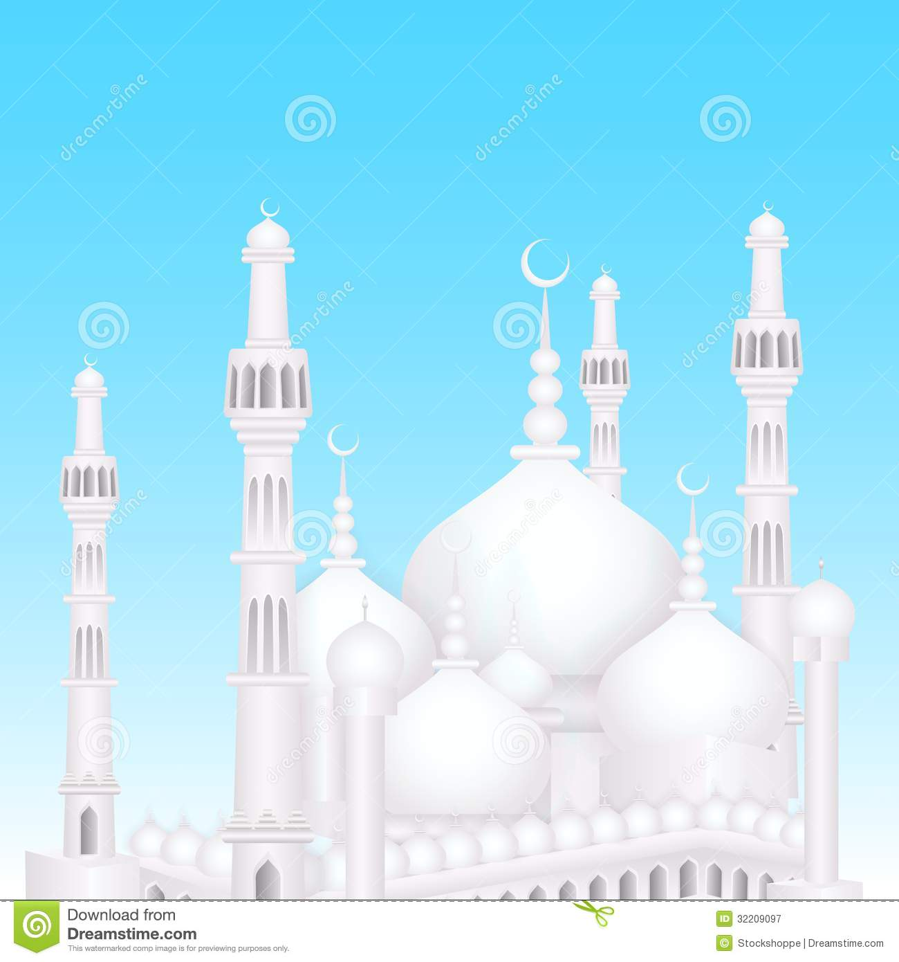 Wallpaper download eid mubarak - Eid Mubarak Background With Islamic Mosque Royalty Free