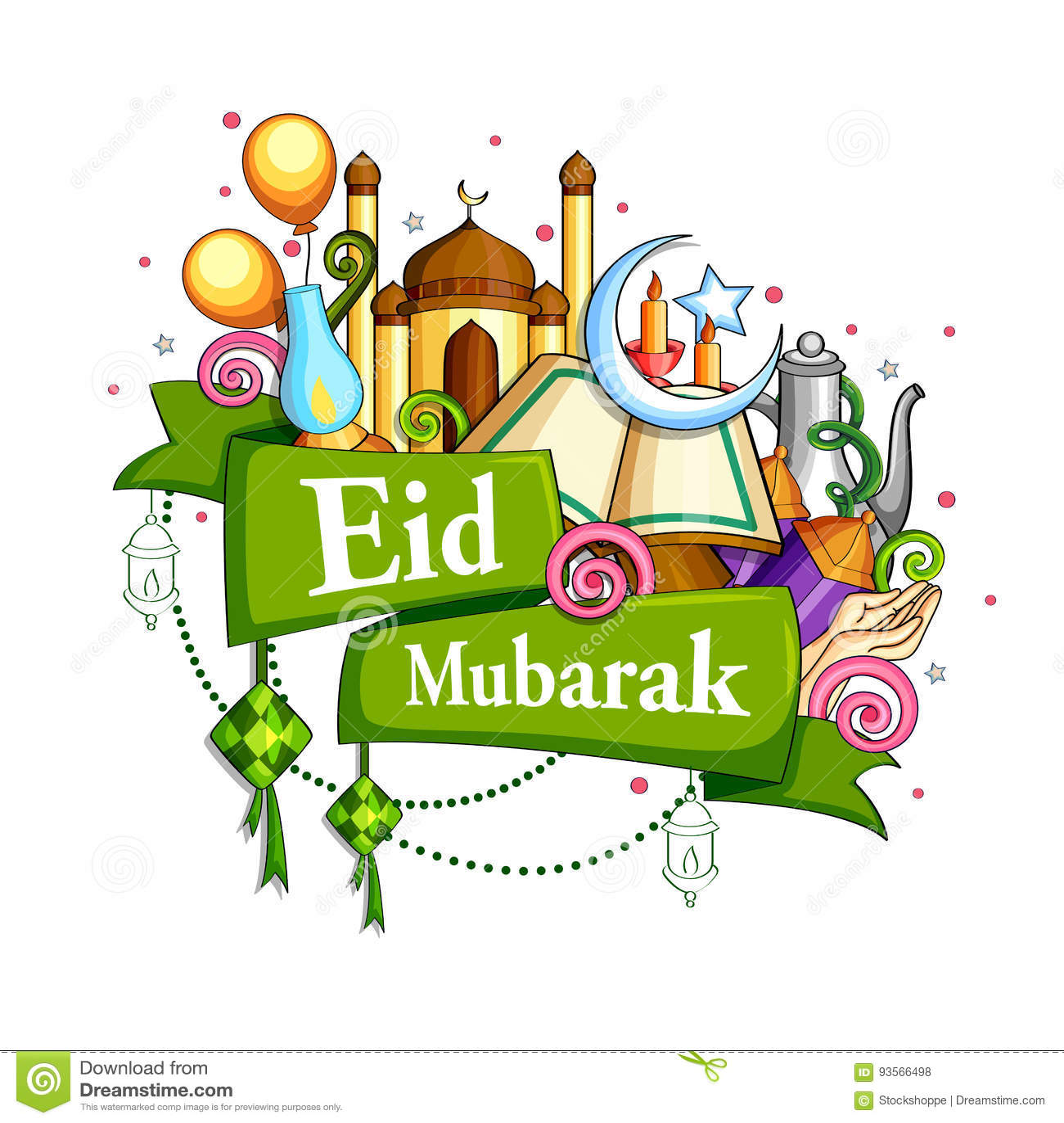 Eid Mubarak Blessing para el fondo de Eid