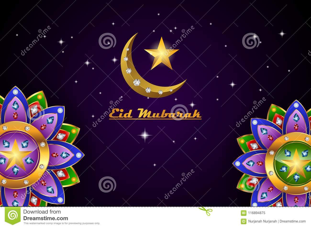 Eid mubarak greeting background islamic with gold patterned stock download eid mubarak greeting background islamic with gold patterned stock vector illustration of islam m4hsunfo