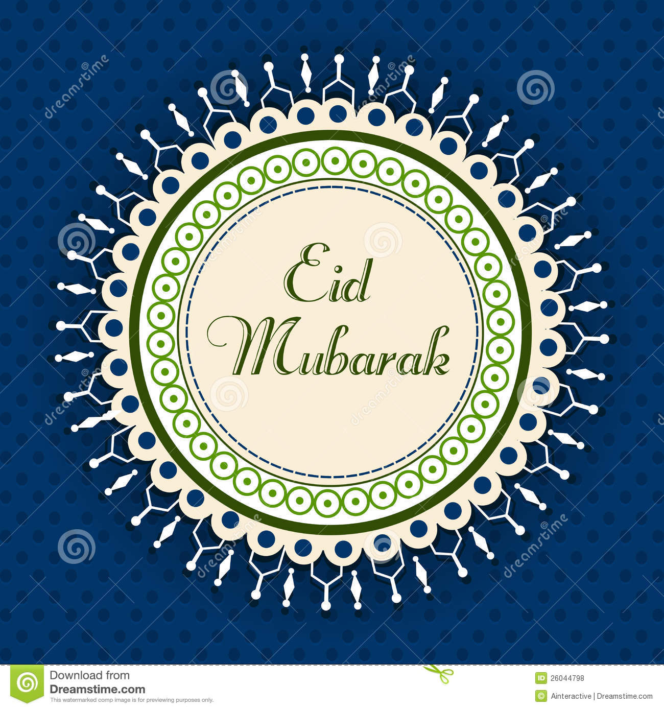 Eid Mubarak Greeting Card Illustration 26044798 Megapixl