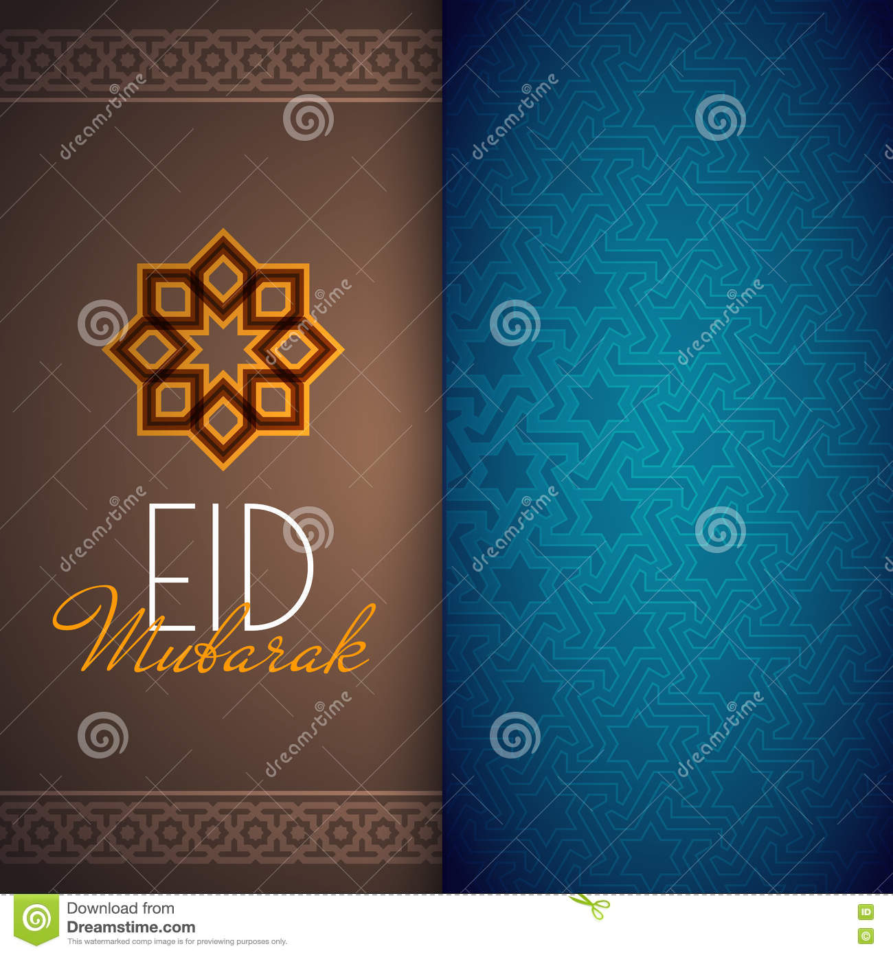 eid mubarak greeting card or background with arabic pattern stock vector illustration of adha advertising 72984308 dreamstime com