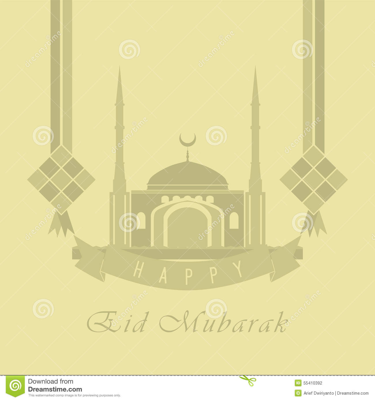 Eid Mubarak Greeting Card  Eid Card Templates
