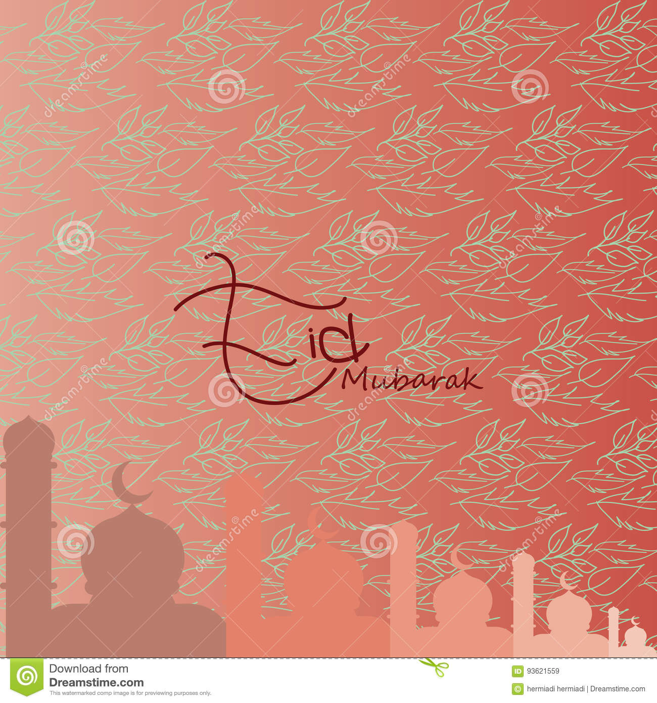 Eid Mubarak Greetings Background For Ramadan Kareem Eid Al Fitr