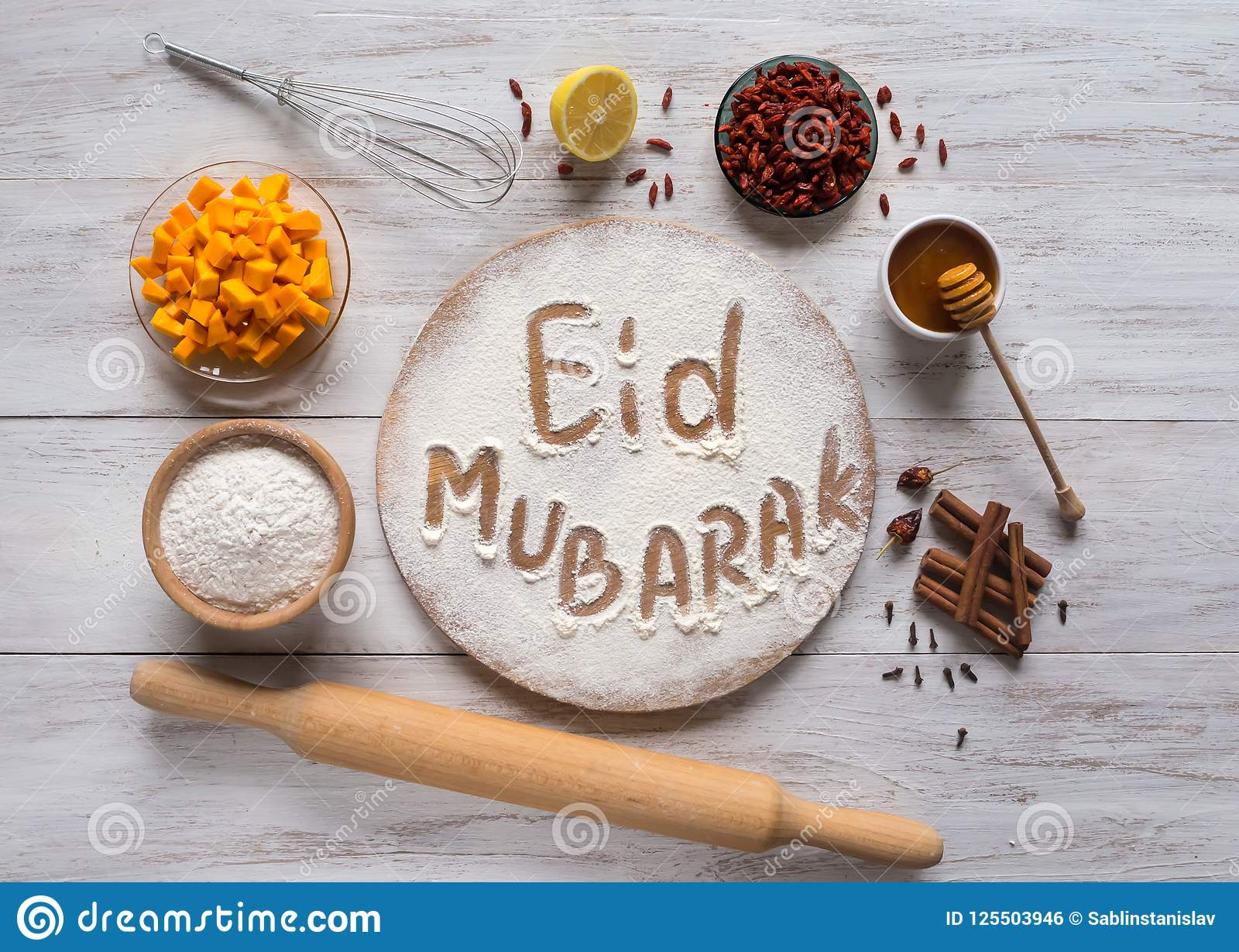Eid Mubarak - Islamic Holiday Welcome Phrase ` Happy Holiday