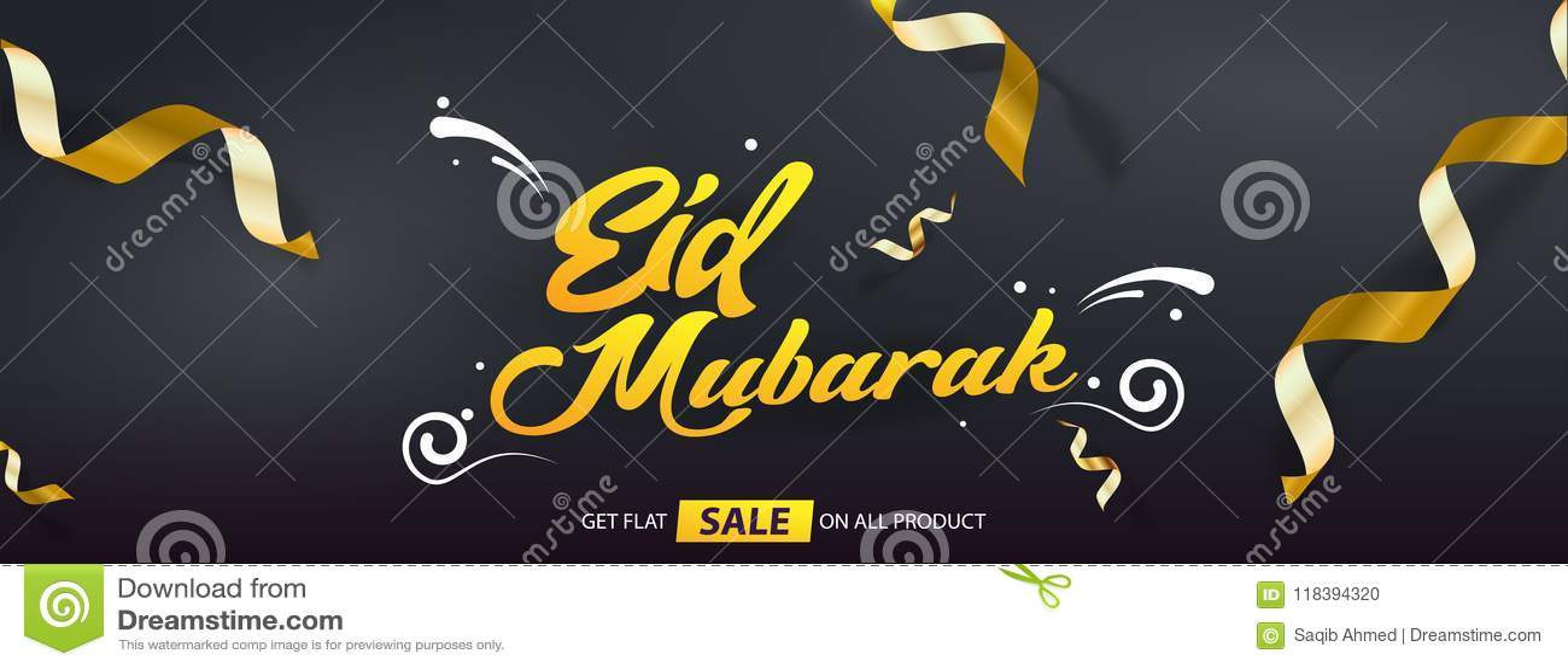 Eid Mubarak Sales offer vector template design cover banner