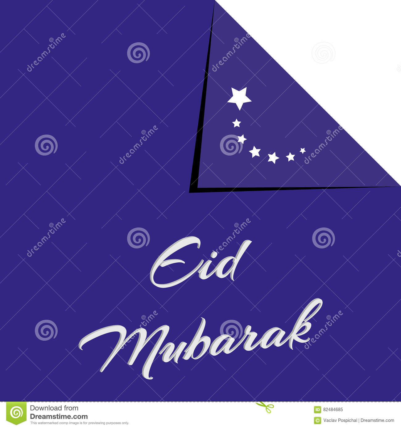 Eid Mubarak Traditional Muslim Greeting Reserved For Use On The