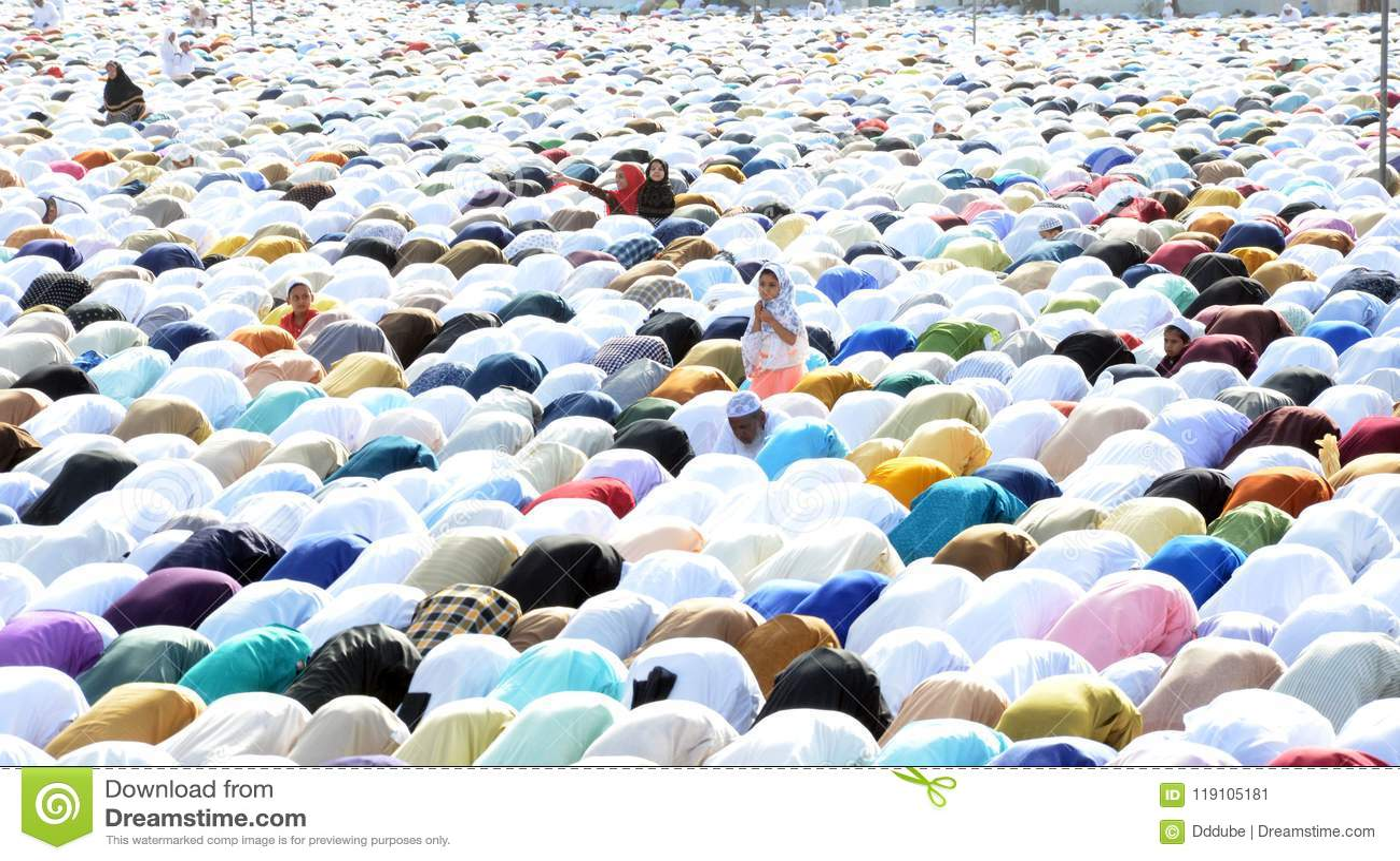 Eid Prayer in Bhopal, Indien