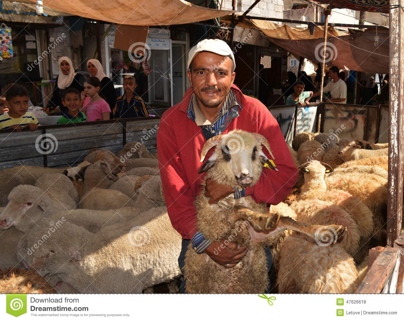Eid sheep market