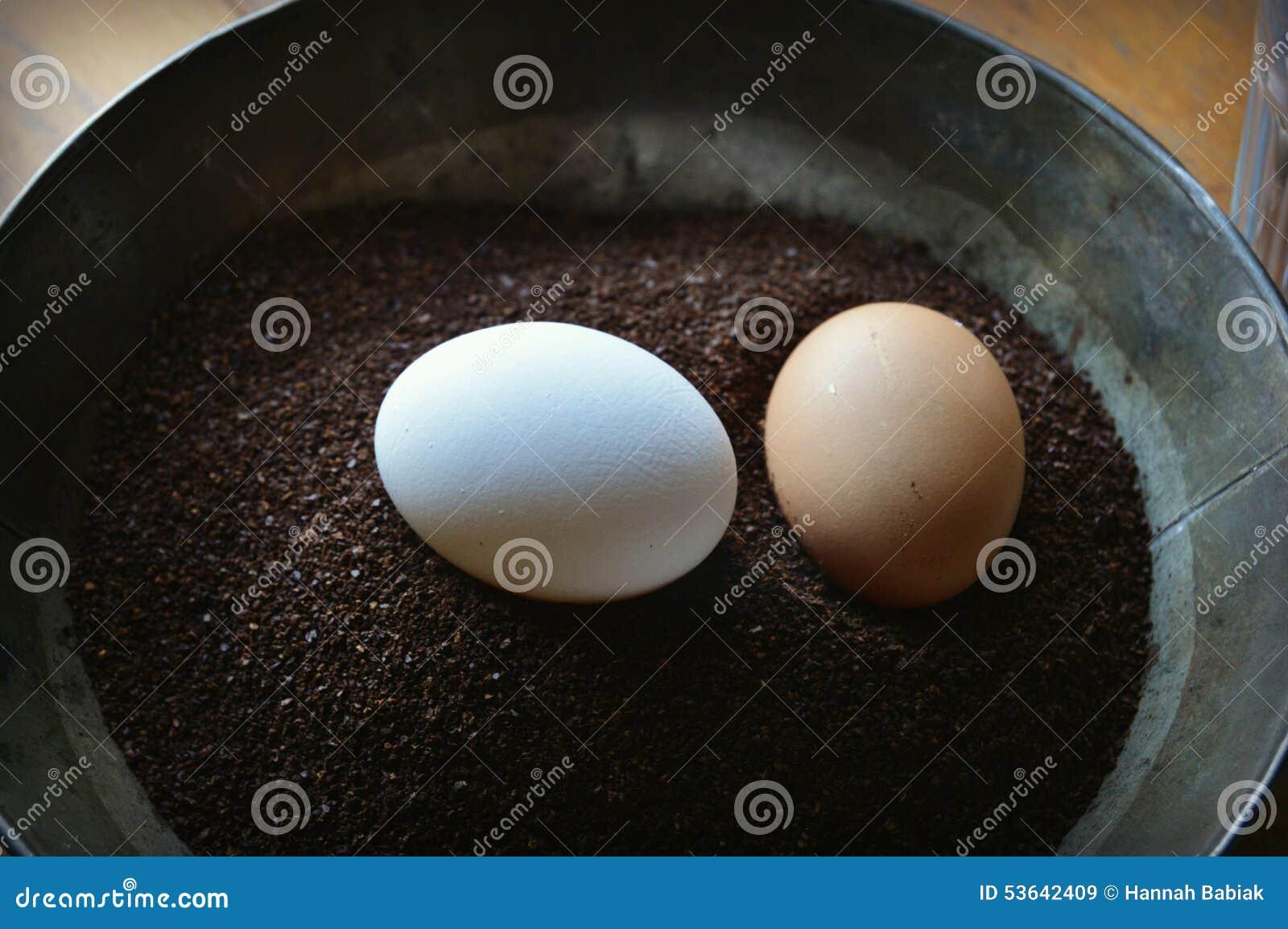 Eier im Kaffeesatz