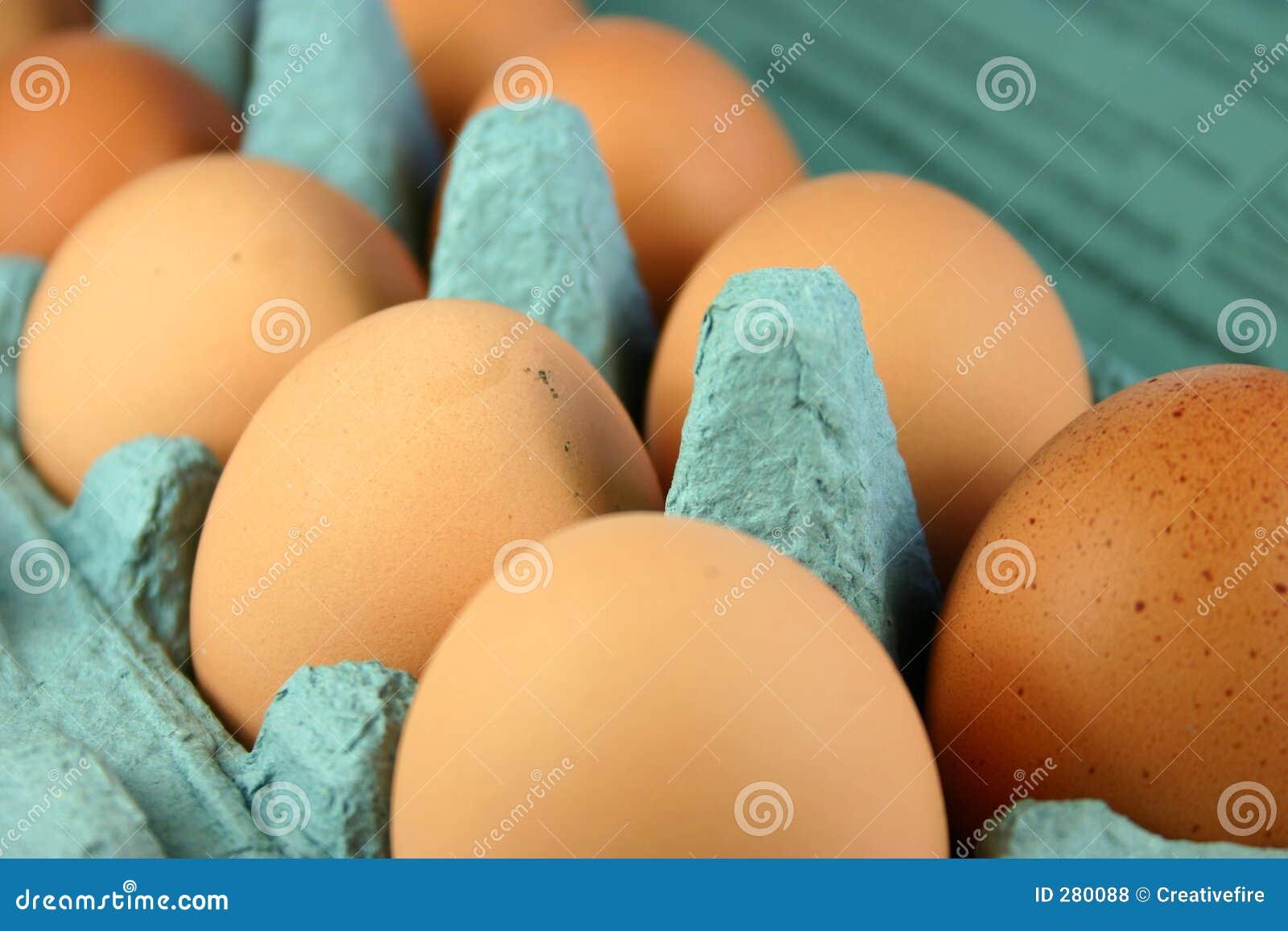 Eieren in Karton