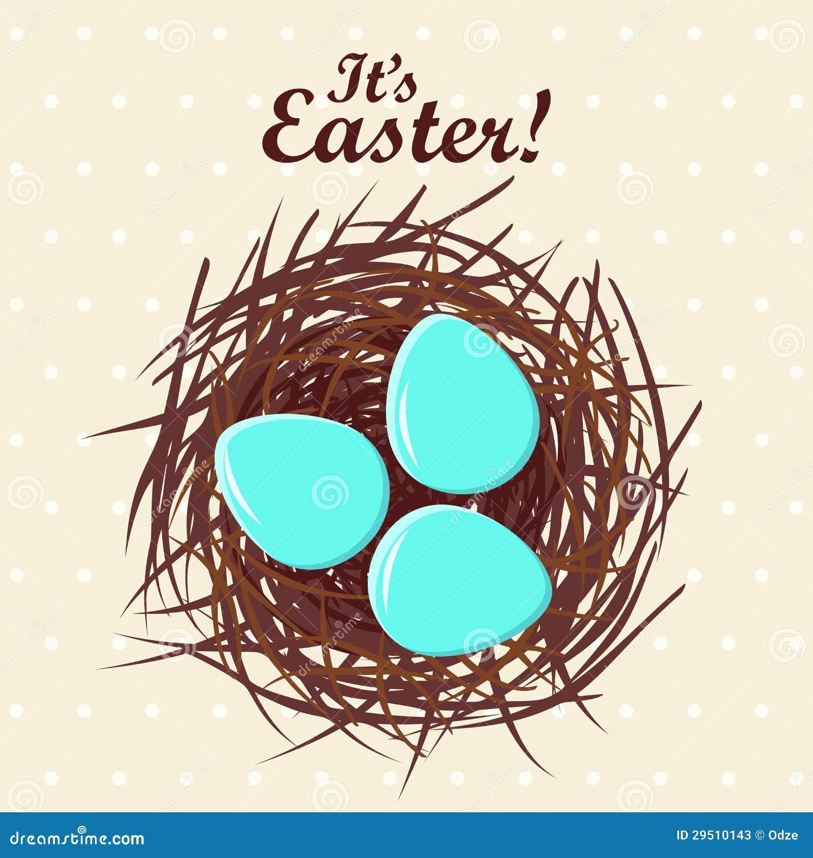 Eieren in nest