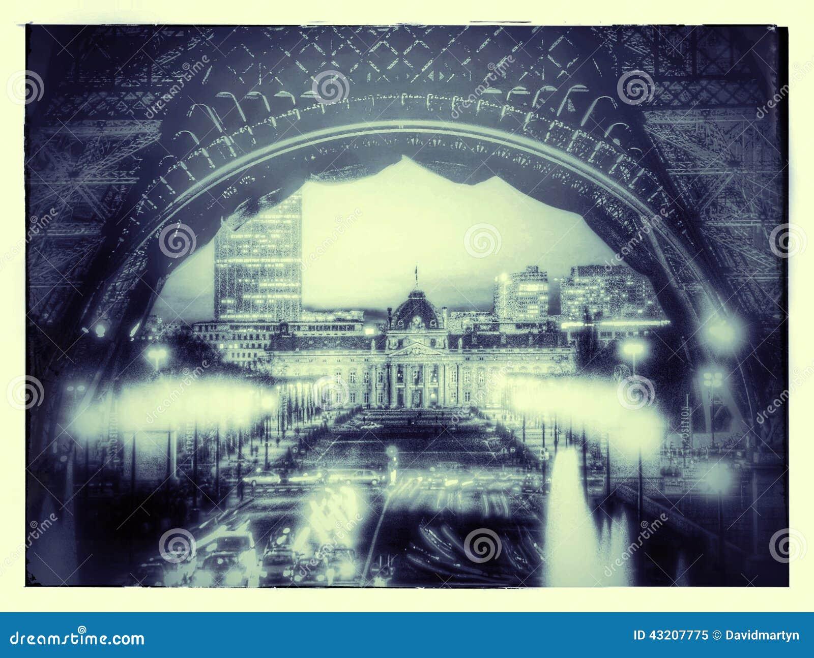 Download Eiffel torn fotografering för bildbyråer. Bild av landmark - 43207775