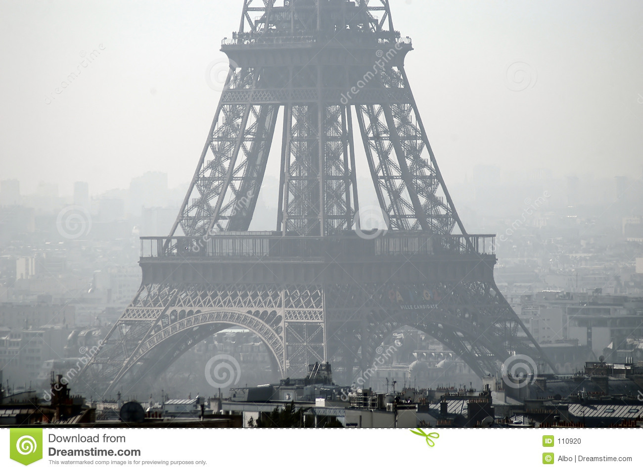 Download Eiffel Tower stock photo. Image of monument, france, tall - 110920