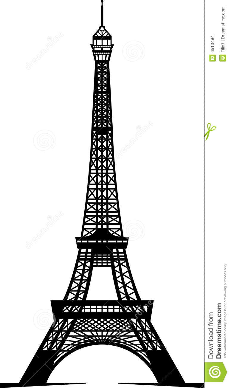 Eiffel Tower Black And White Clipart Images & Pictures - Becuo