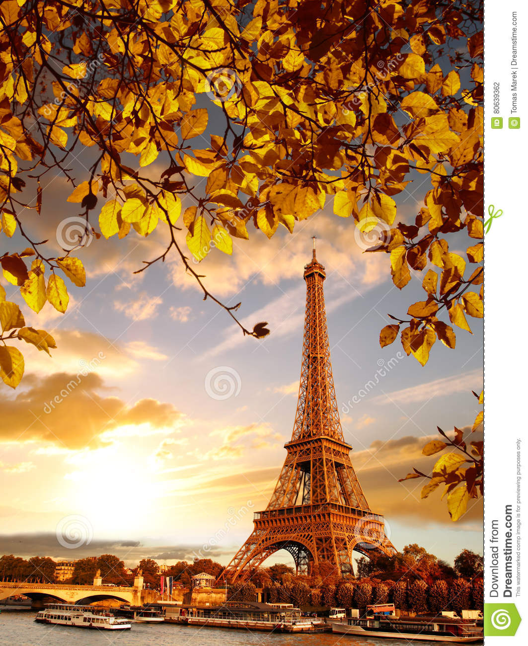 Who Designed The Eiffel Tower Famous Eiffel Tower In Autumn Stock Image Cartoondealer