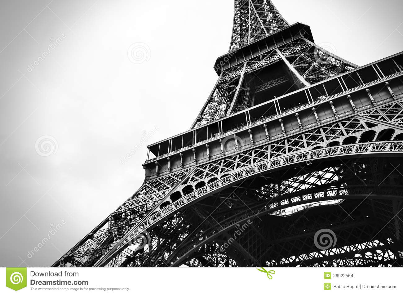 Eiffel Tower Images Black And White: Eiffel Tower Black And White Beauty Stock Photo