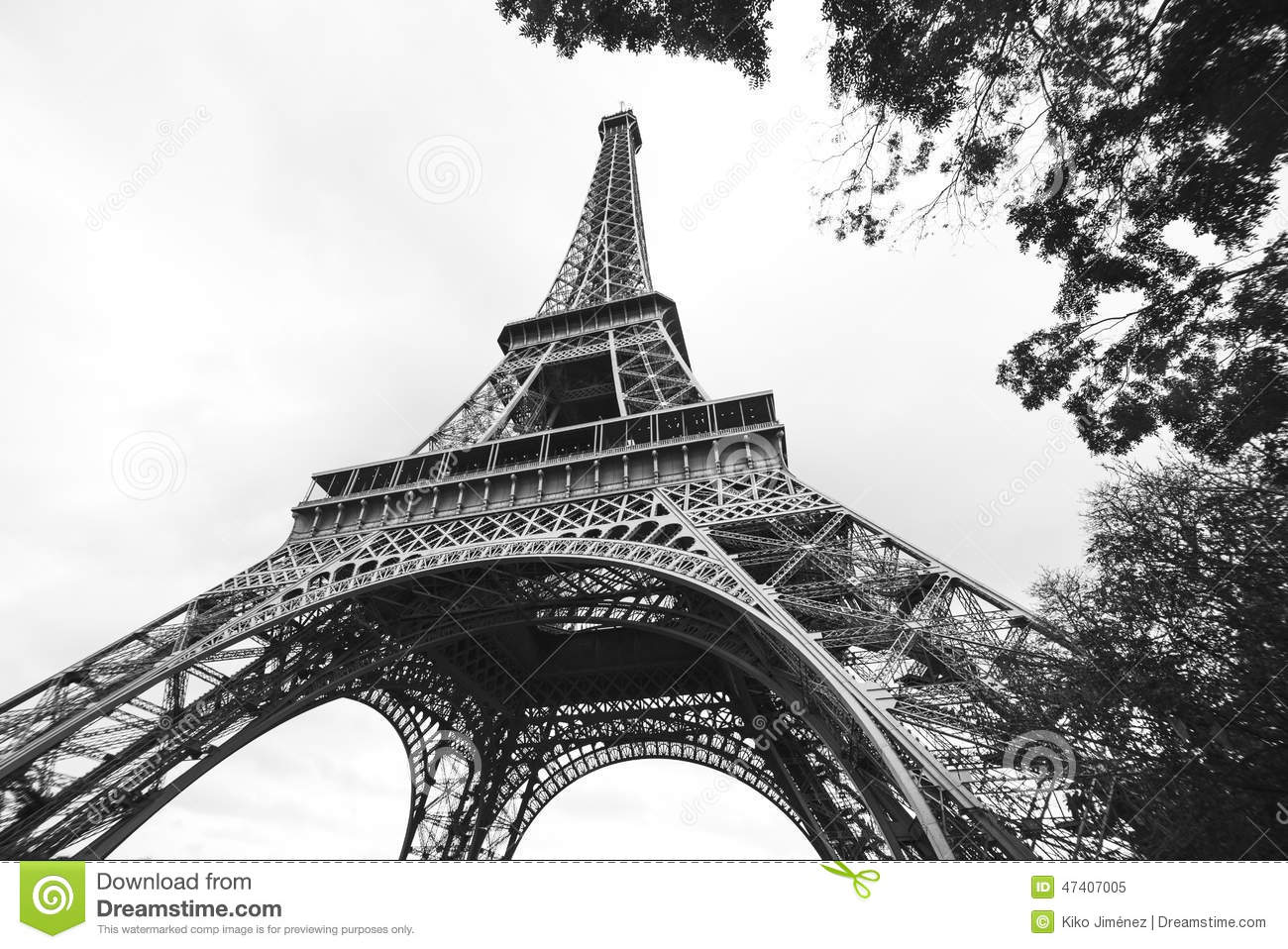 Eiffel Tower Images Black And White: The Eiffel Tower In Black And White
