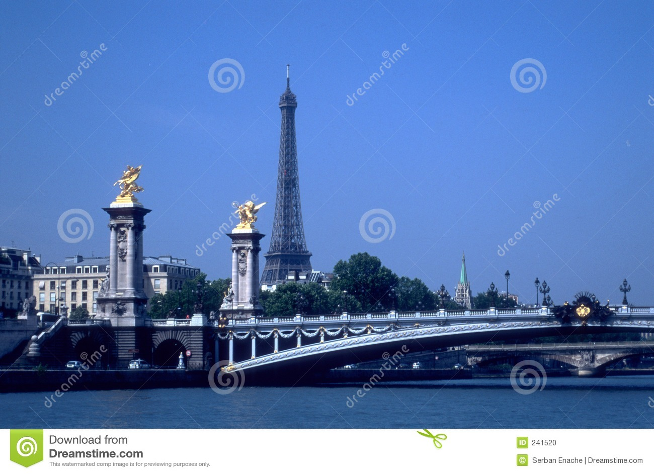 Download Eiffel Tower And Bridges Over Seine Stock Photo - Image of europe, bridge: 241520