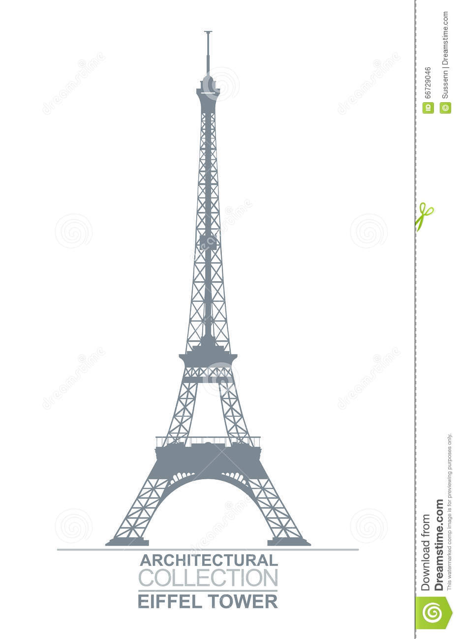 Eiffel tower drawing stock vector illustration of architecture download comp thecheapjerseys Gallery