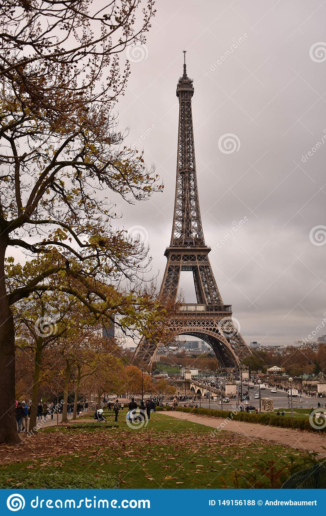 The Eiffel Tower on a Fall Day