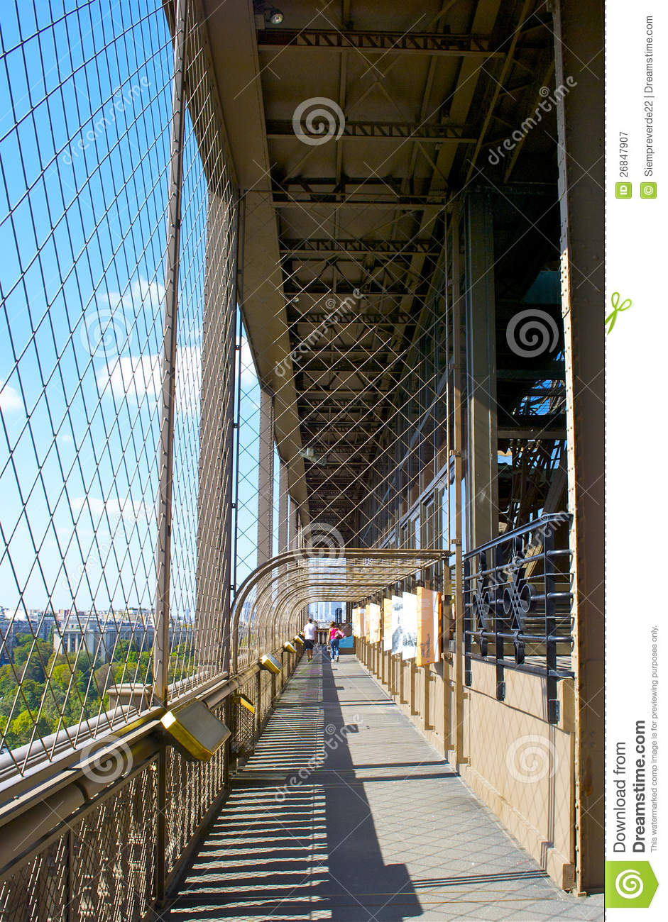 Eiffel Tower First Floor Royalty Free Stock Photography