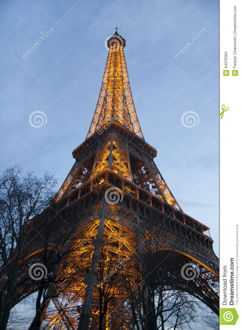 Eiffel tower with illumination on editorial stock image image 64370284 - Illumination a paris ...