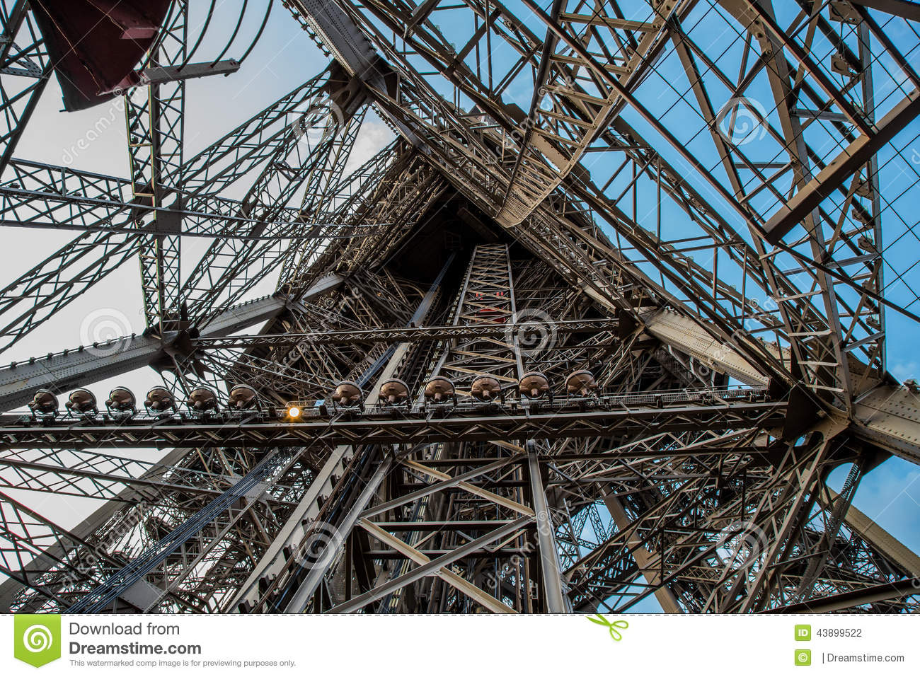 Top Of Eiffel Tower Stairs : Eiffel tower from inside stock photo image of view