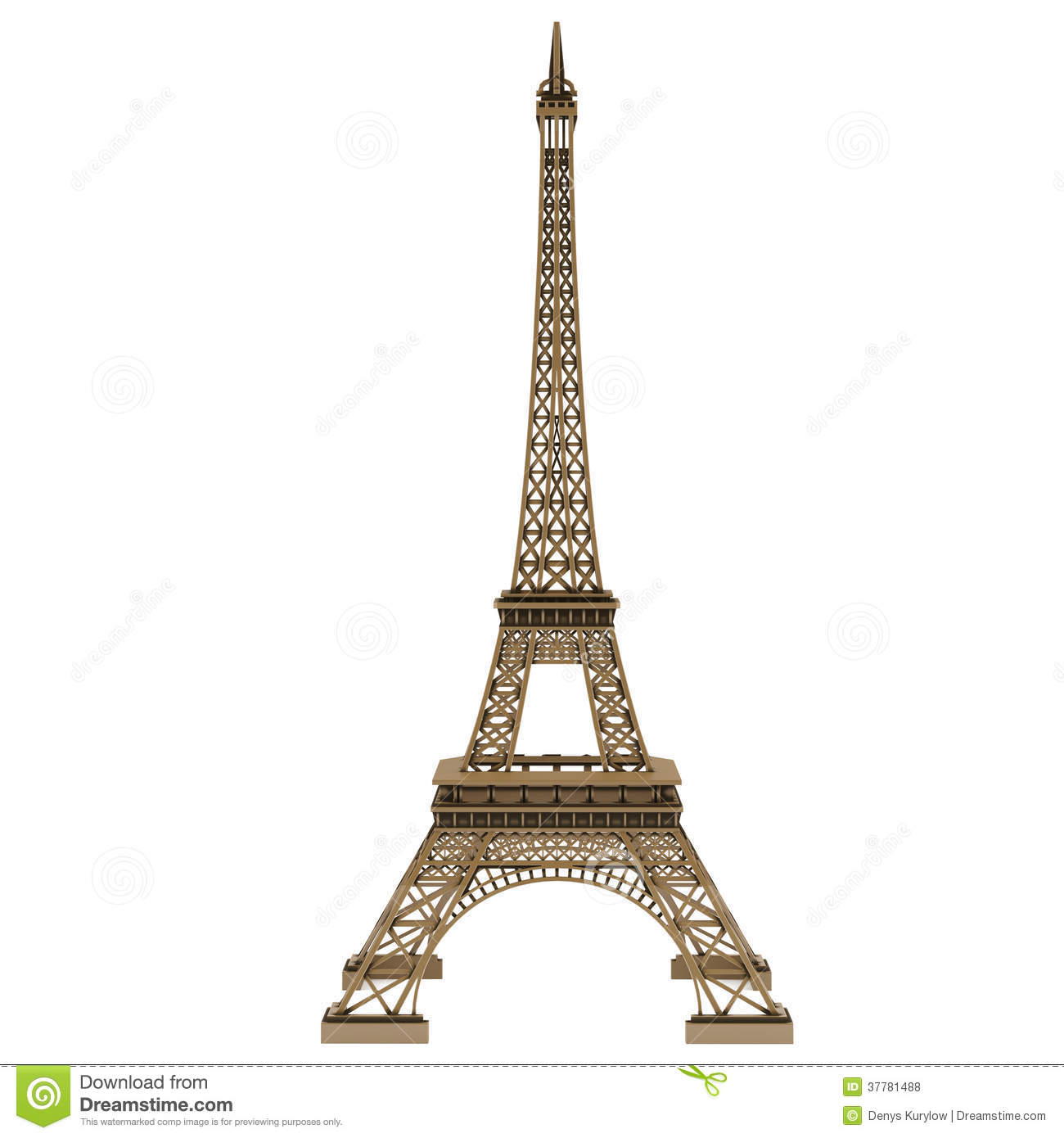 Eiffel Tower Isolated Royalty Free Stock Photos - Image: 37781488