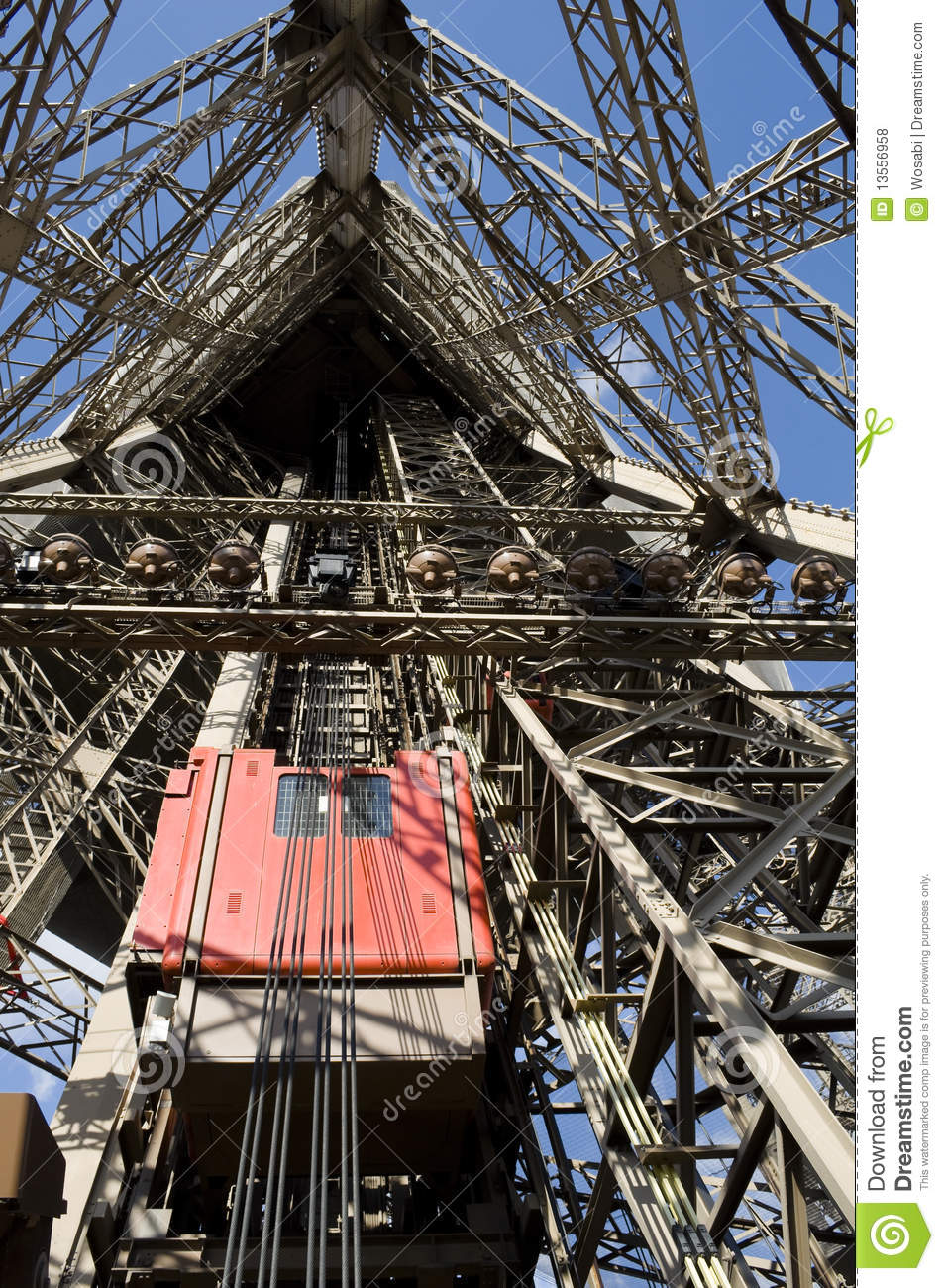 Eiffel Tower Lifts Stock Photo Image Of City Building