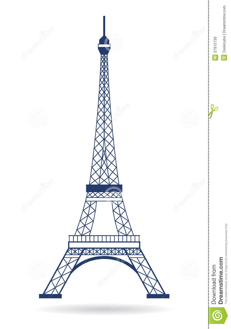 Eiffel Tower Logo Graphic Royalty Free Stock Images - Image: 37915739