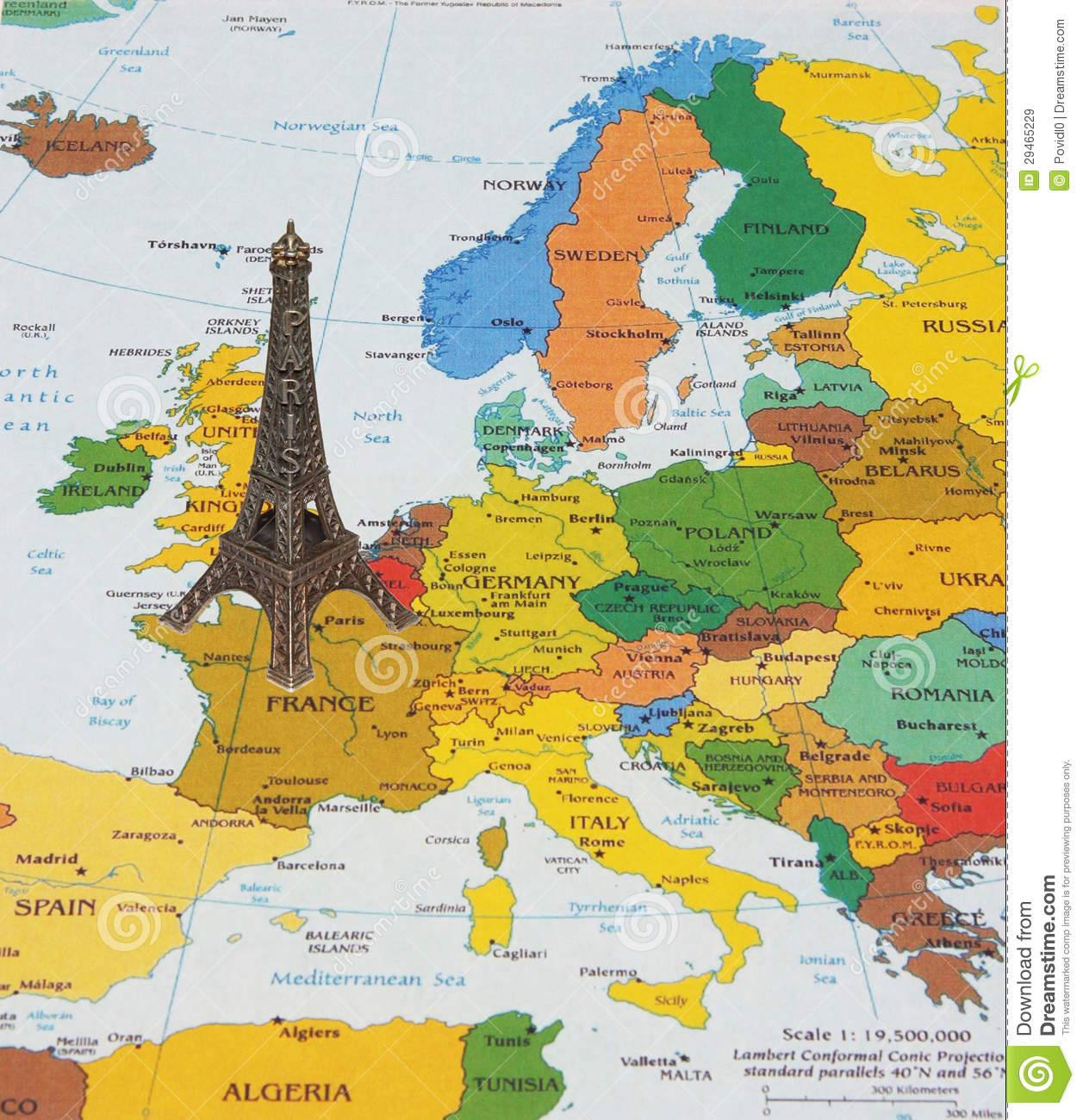 Map Of France Eiffel Tower.Eiffel Tower On The Map Stock Image Image Of Books Travel 29465229