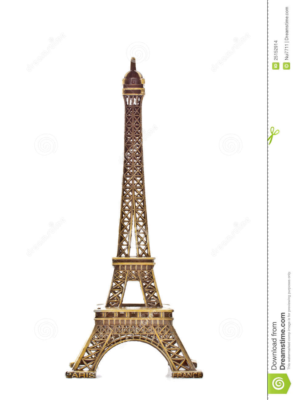 Eiffel Tower Model On White Background 2 Stock Images - Image ...