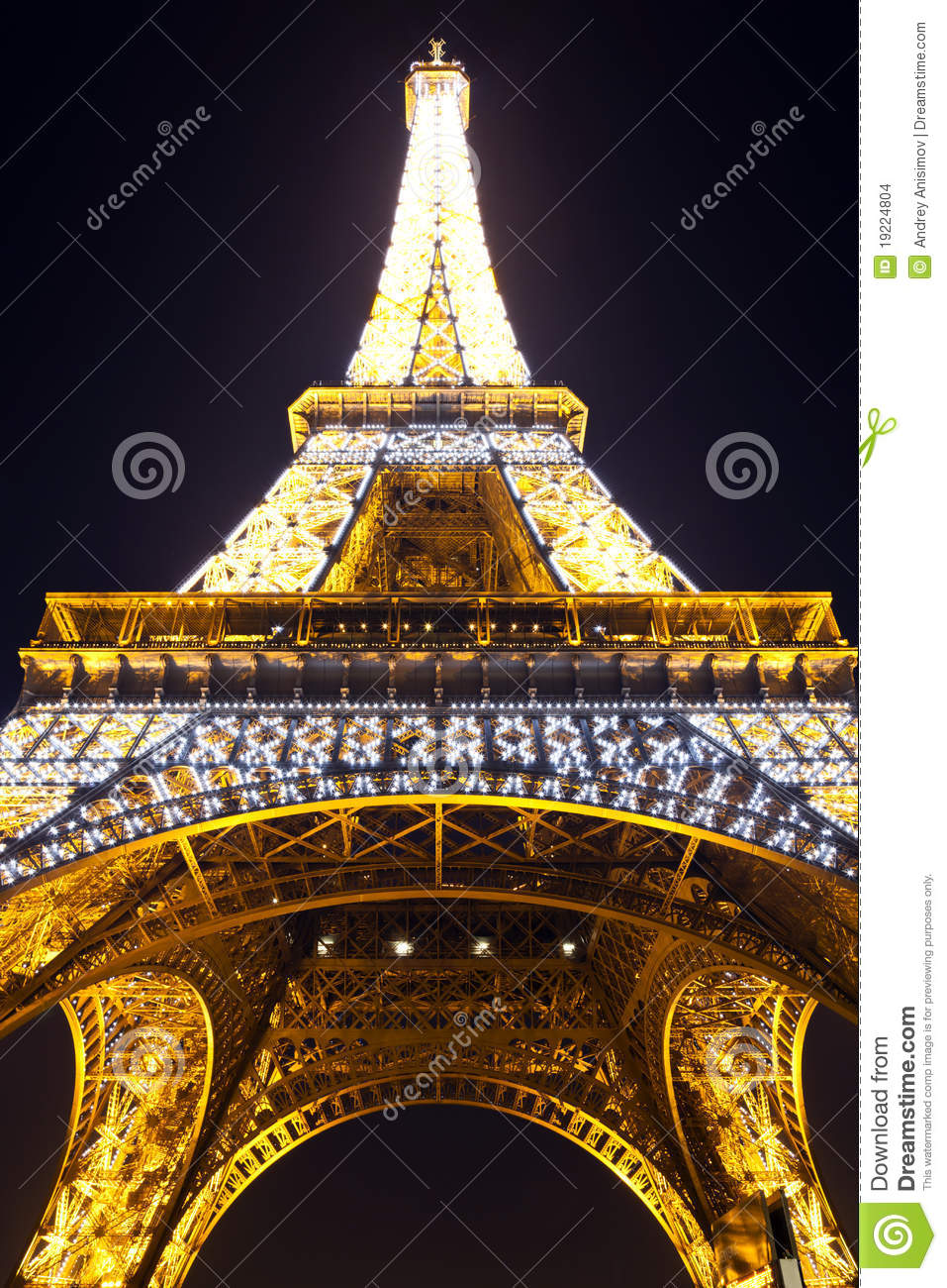 light performance show of eiffel tower with dark sky editorial photo 66998239. Black Bedroom Furniture Sets. Home Design Ideas