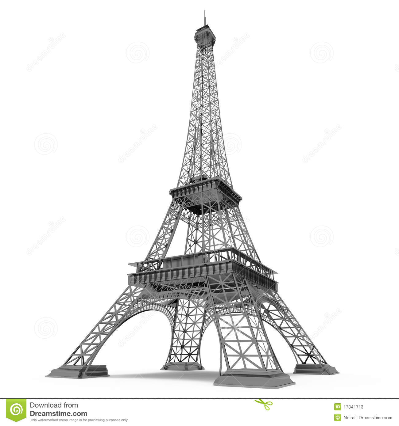 Eiffel tower in paris stock illustration image of for Torre enfel