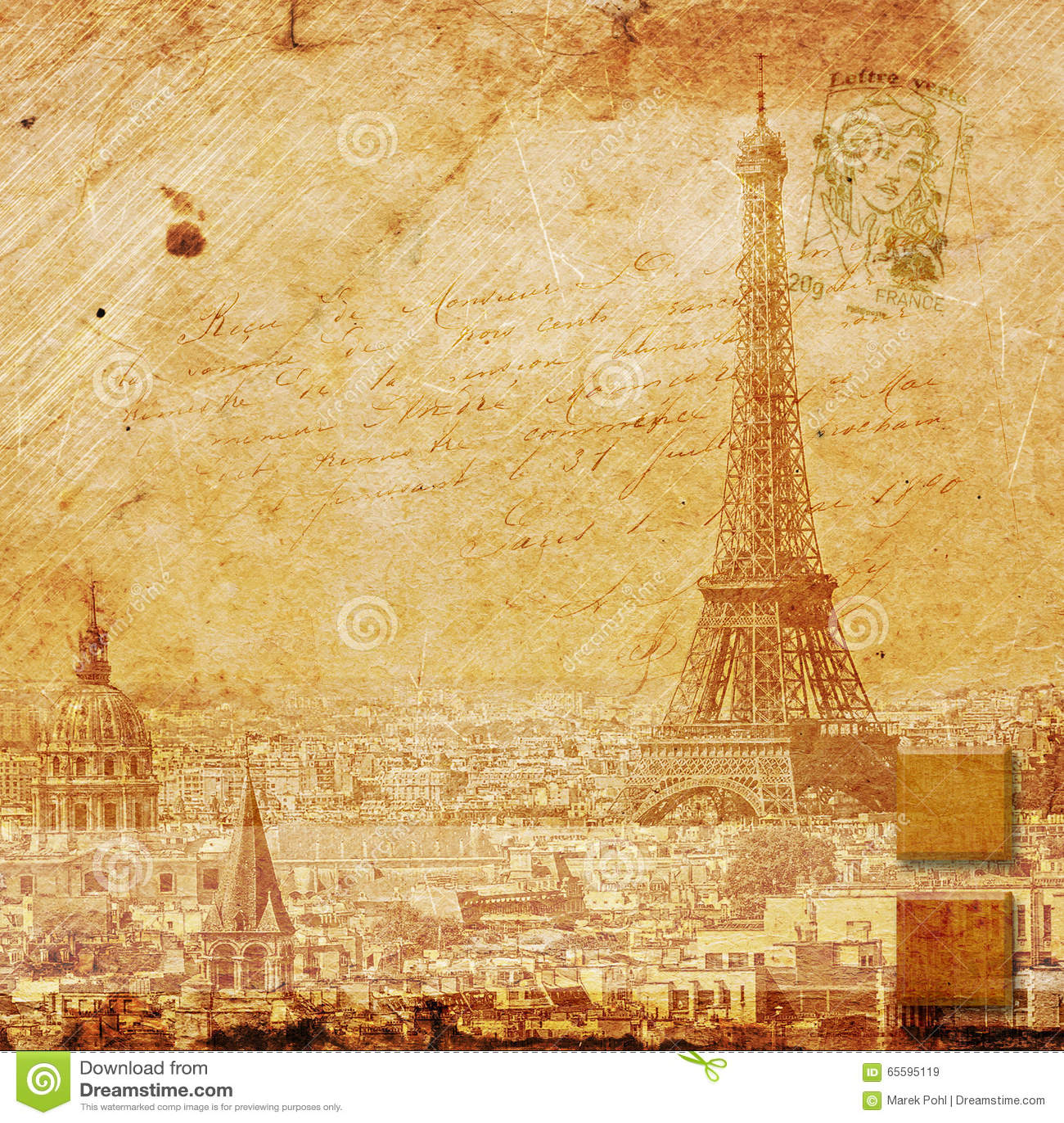 Eiffel Tower Paris, Abstract Digital Art Stock Image - Image of ...