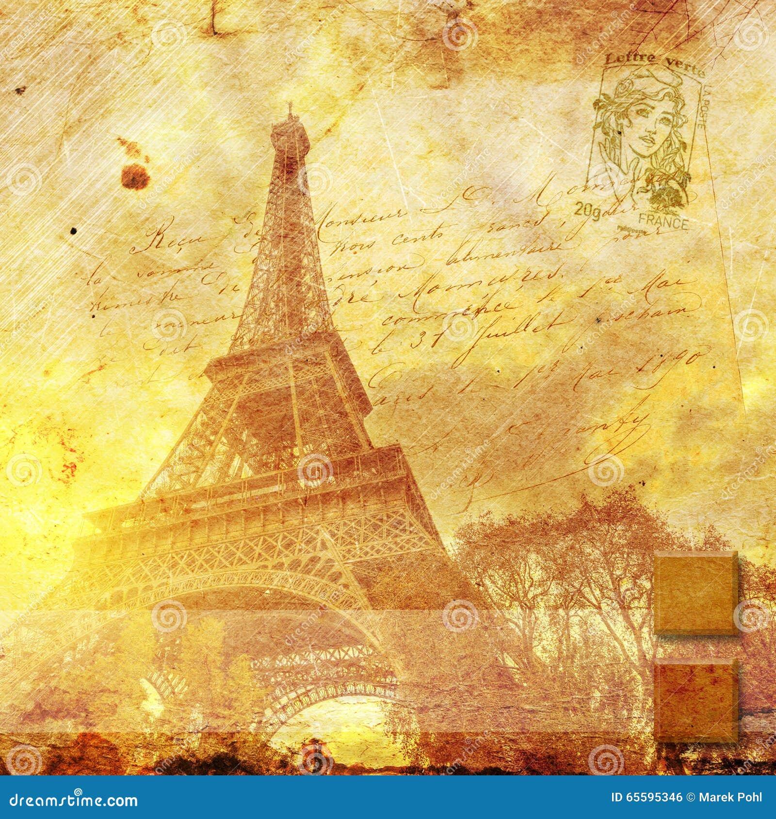 Eiffel Tower Paris, Abstract Digital Art Stock Photo - Image of ...