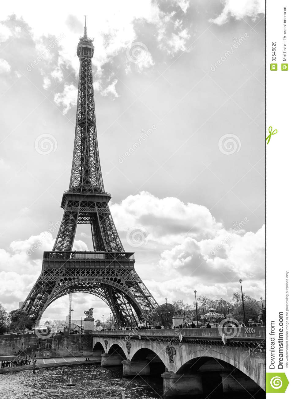 Eiffel Tower stock image. Image of french, arch, place ...