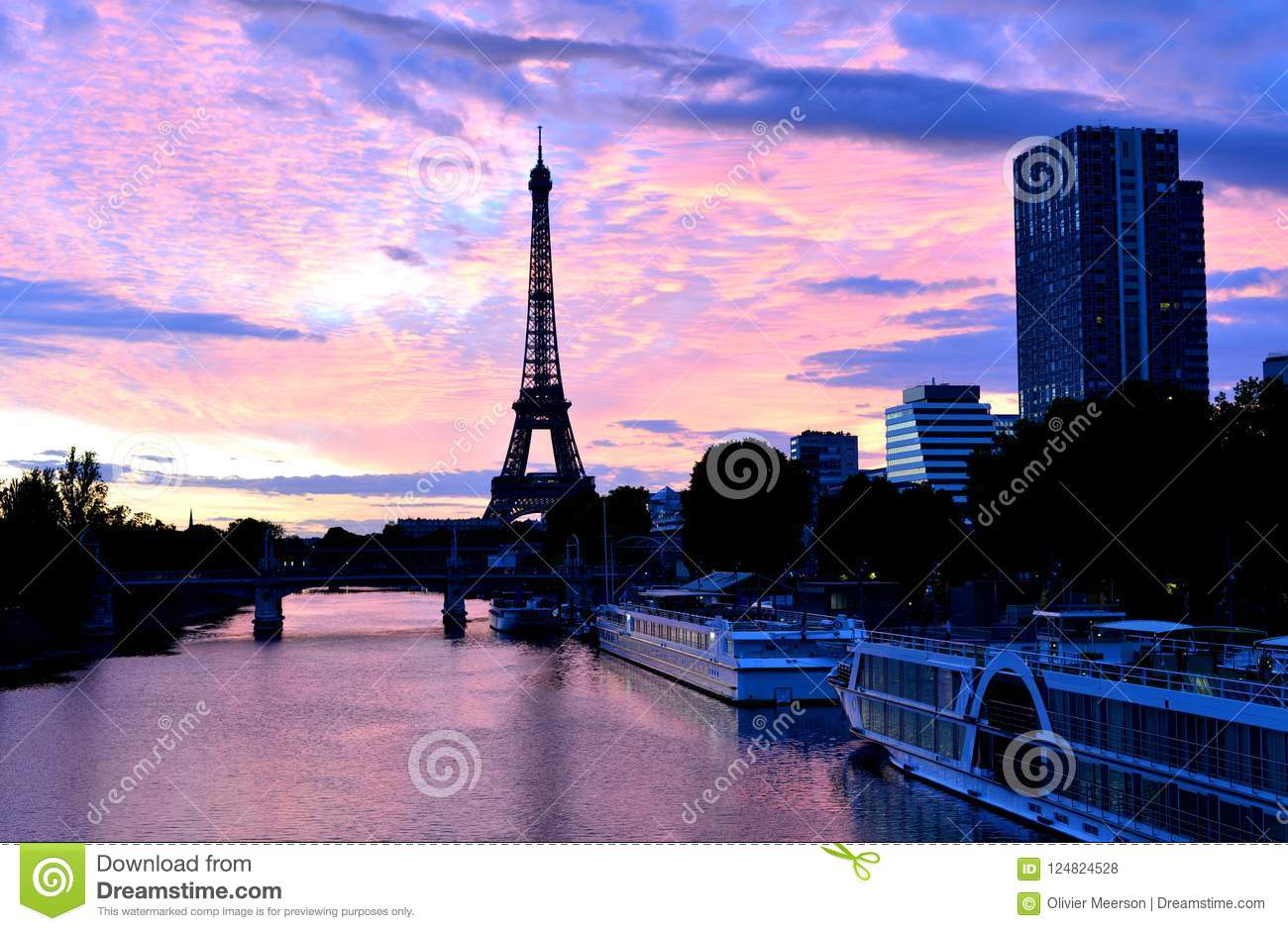 Eiffel tower, paris city, france