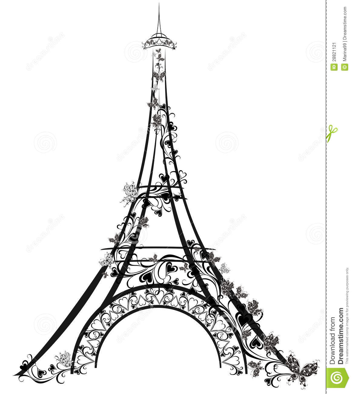 Free coloring pages of the word, eiffel tower