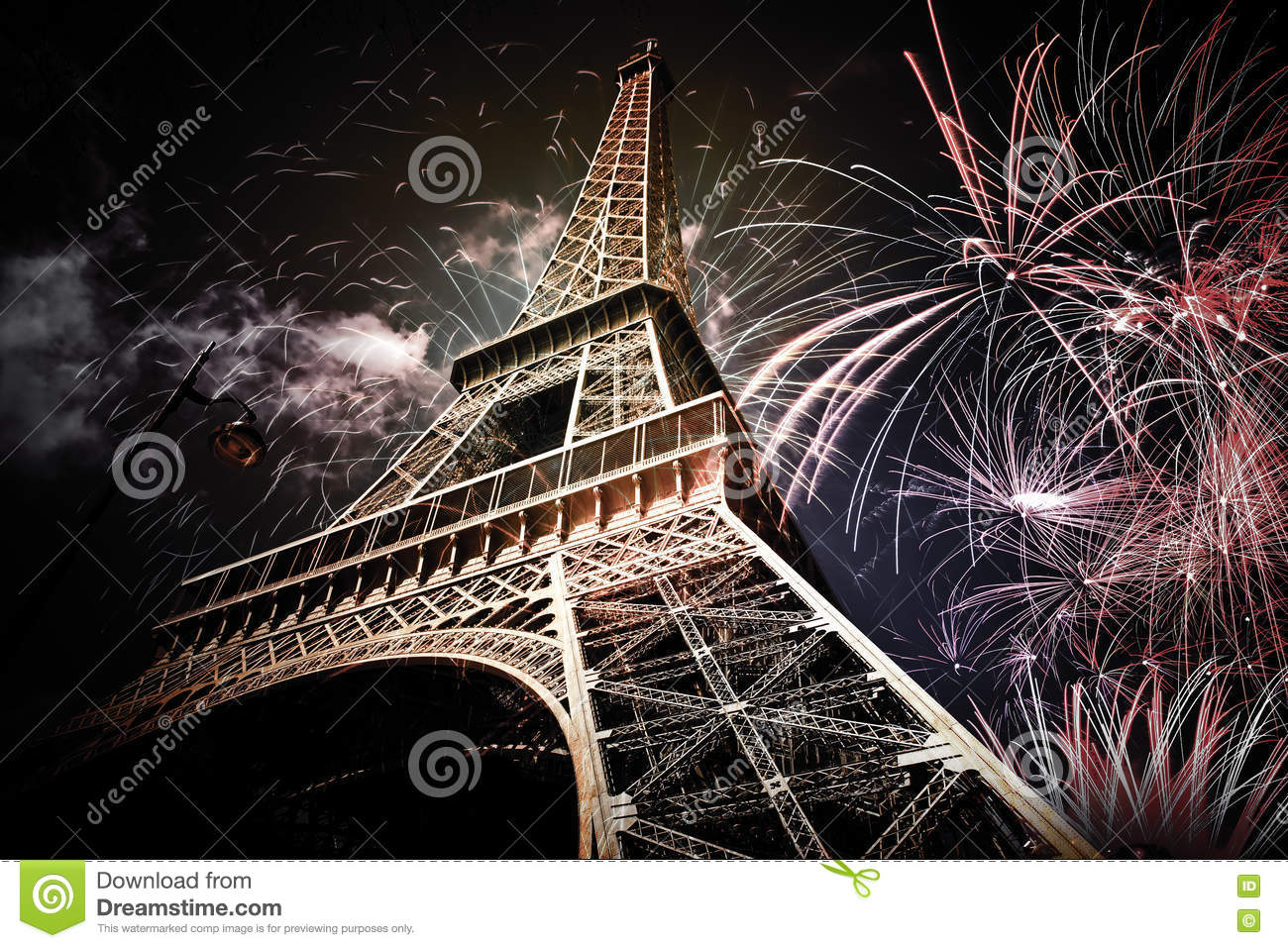 Eiffel tower & x28;Paris, France& x29; with fireworks