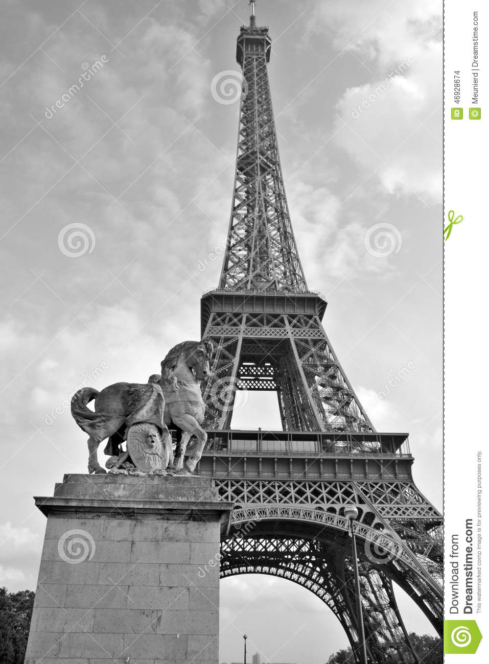 The Eiffel Tower Editorial Stock Image Image 46928674