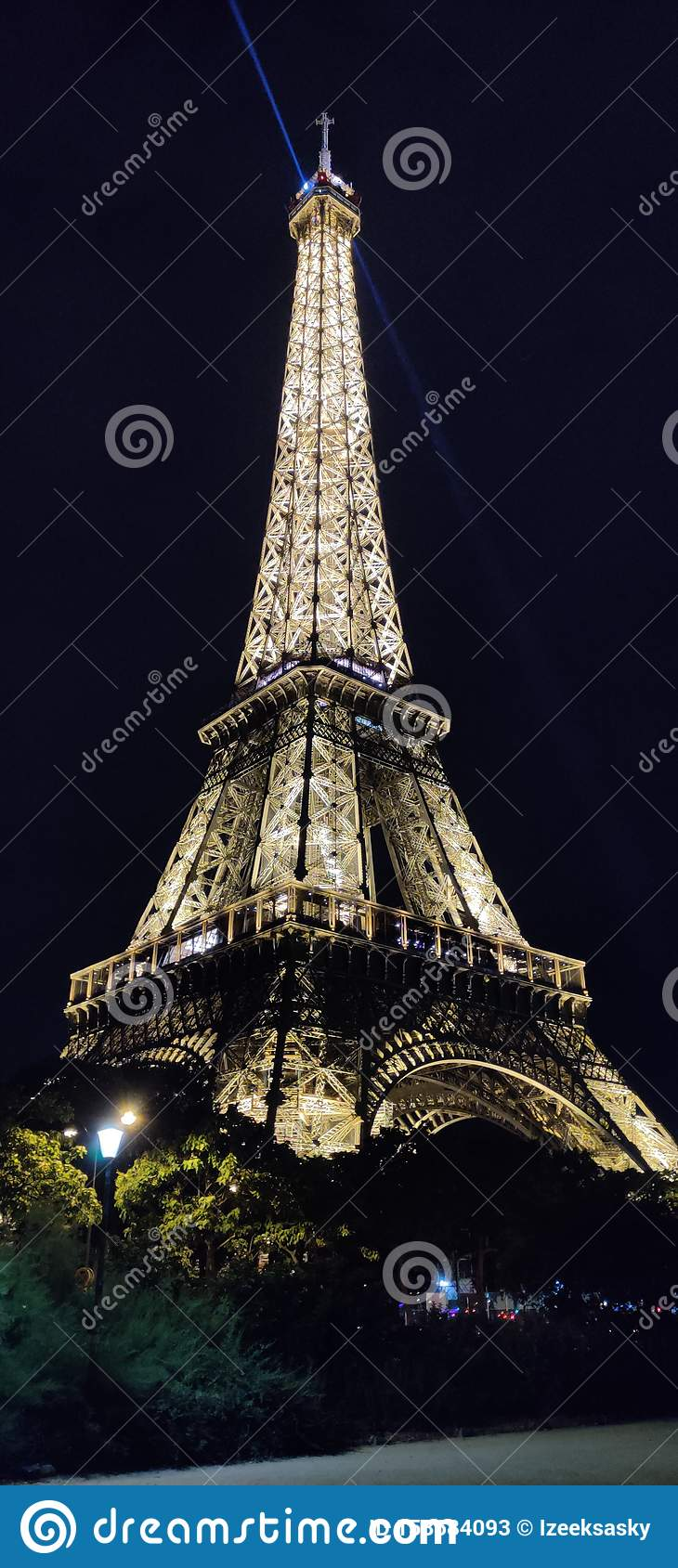Eiffel Tower In Paris At Night Editorial Stock Photo Image Of France Tower 153684093