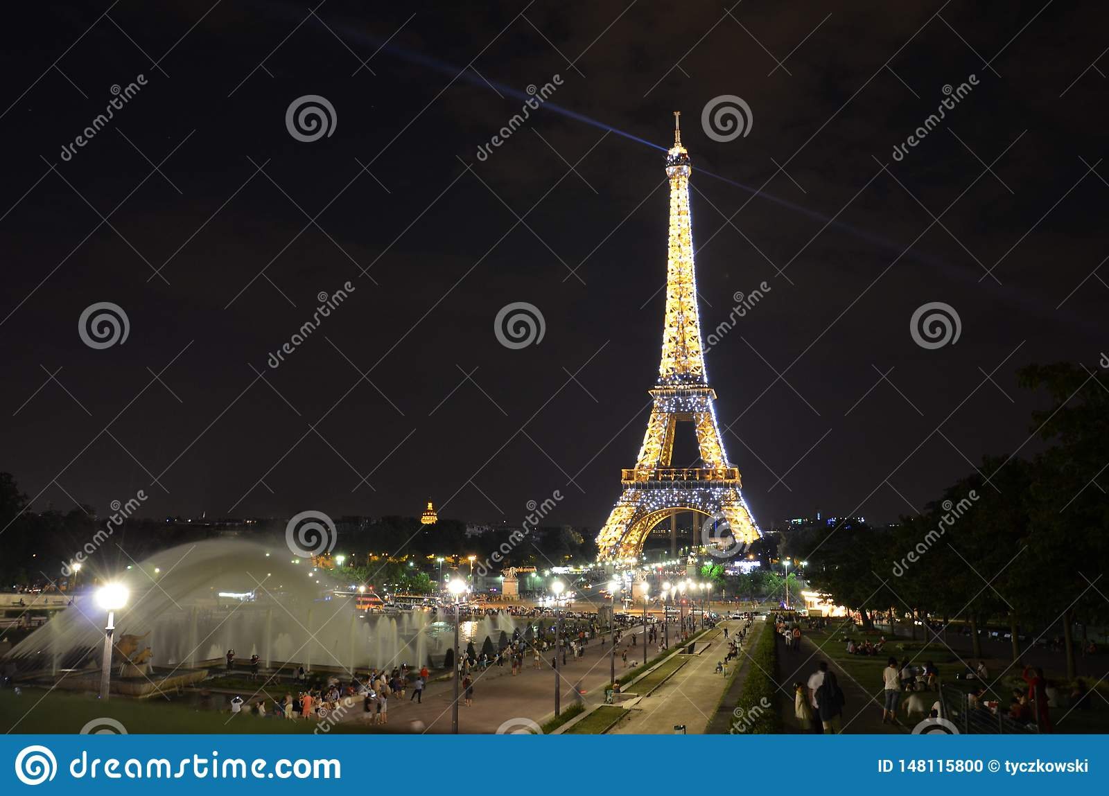 Eiffel Tower in Paris - night view
