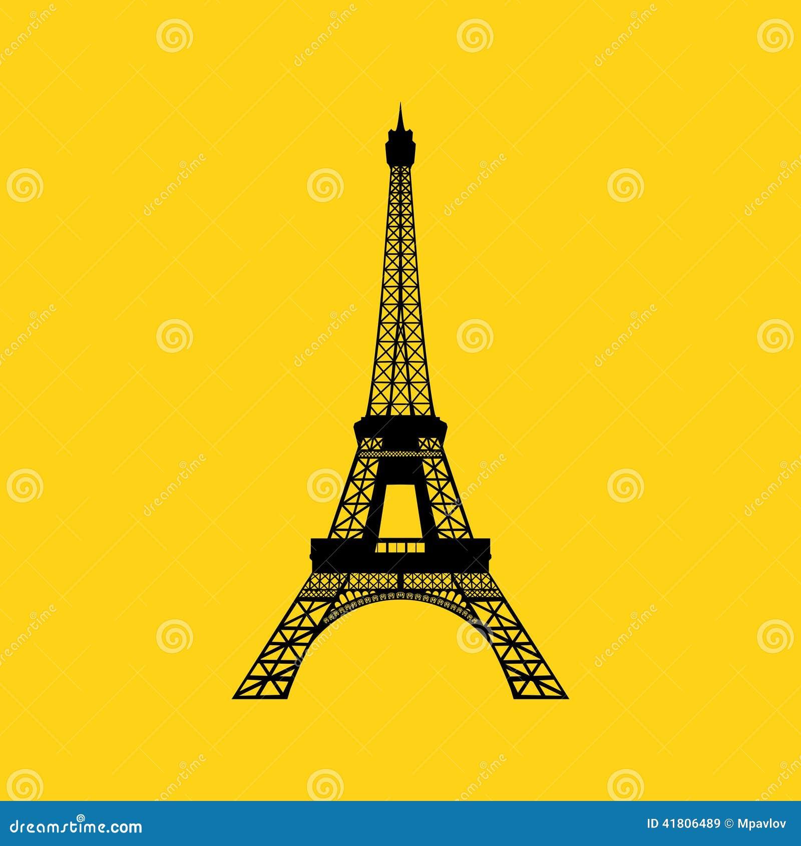 Paris Illustration: Eiffel Tower In Paris Stock Vector. Illustration Of City