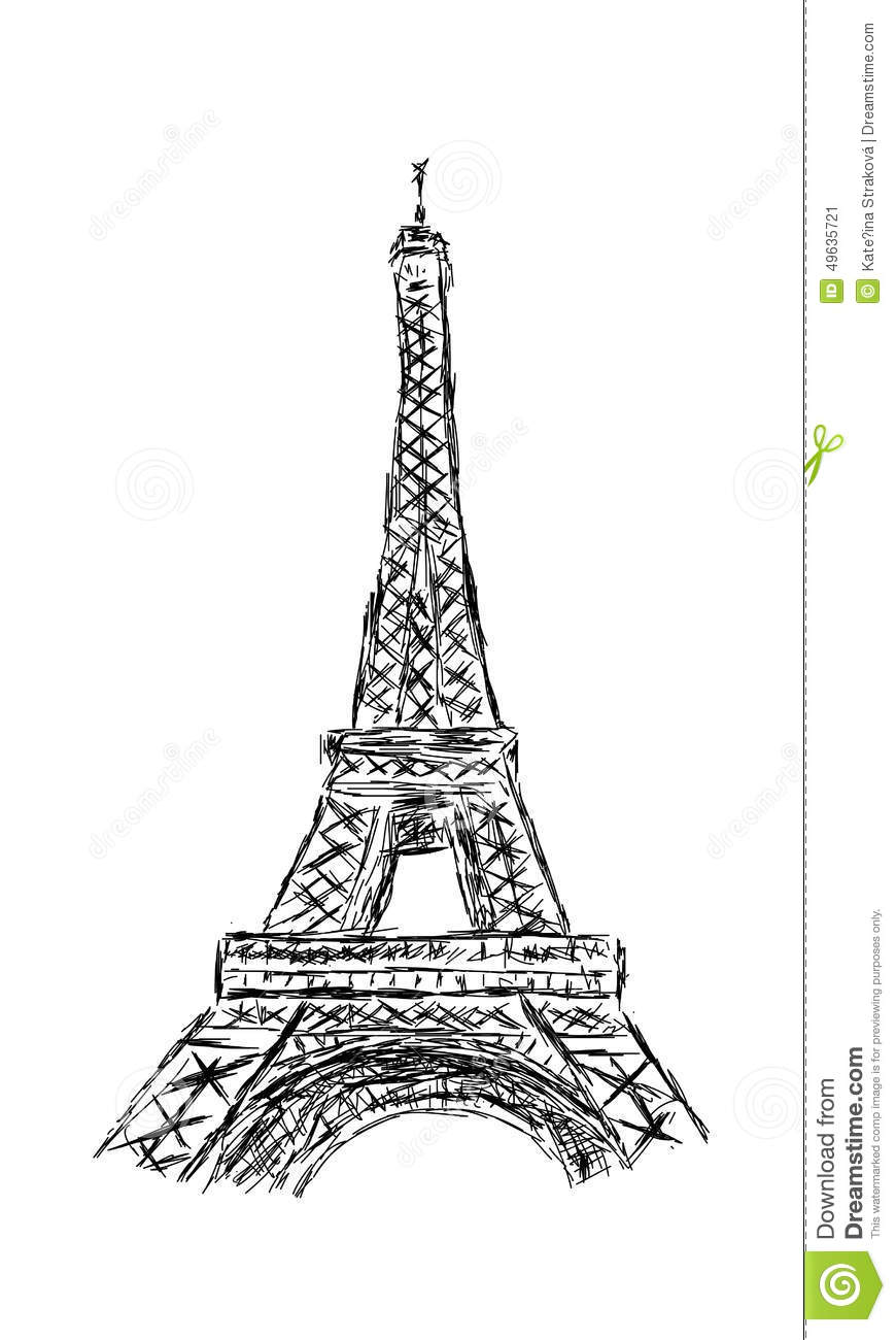 the eiffel tower stock vector illustration of monument. Black Bedroom Furniture Sets. Home Design Ideas